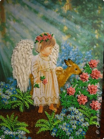 Еще одна работа с ангелочком. Приятного просмотра фото 2