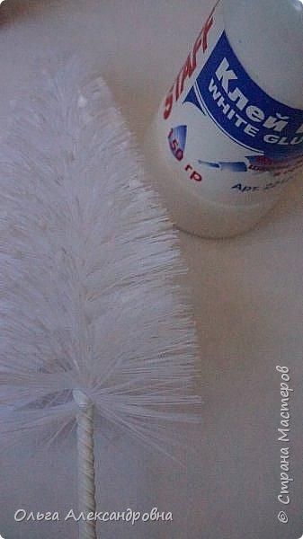 Бонсай топиарий Мастер-класс Новый год Моделирование конструирование Ёлочка из ёршика Бусины фото 7