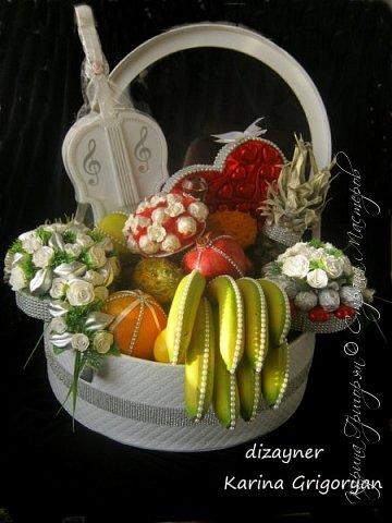 Как оформить корзину с фруктами на свадьбу