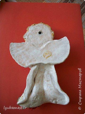 Здравствуйте дорогие мастера! Вот такое панно я соорудила в подарок на Рождество. Размер ангелочка 17 см. в высоту. Краски- акрил. фото 5