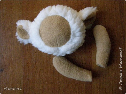 Мастер-класс День рождения Новый год Шитьё Муфточка-овечка Мех Ткань фото 7