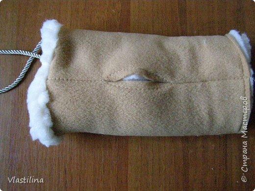 Мастер-класс День рождения Новый год Шитьё Муфточка-овечка Мех Ткань фото 10
