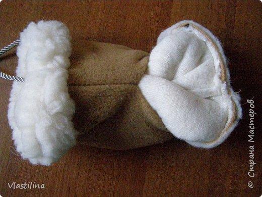 Мастер-класс День рождения Новый год Шитьё Муфточка-овечка Мех Ткань фото 11