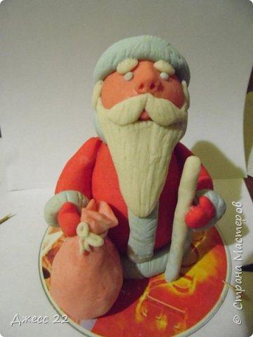 Игрушка Мастер-класс Новый год Лепка Дед Мороз из лампочки быстро и просто Тесто соленое фото 1
