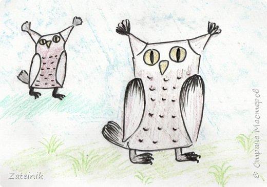 Совуни- мудрые и весёлые, смешные, глазастые жители  леса. они тоже готовятся к встрече Нового года.  Вот, смотрите, какие они красивые в своих ушастых, пёстрых шапочках. фото 6