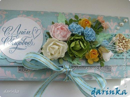 Добрый день! Сегодня хочу показать вам свадебную открытку и конверт, которые впервые делала на заказ! Результат меня очень порадовал! фото 9