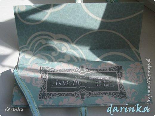 Добрый день! Сегодня хочу показать вам свадебную открытку и конверт, которые впервые делала на заказ! Результат меня очень порадовал! фото 11