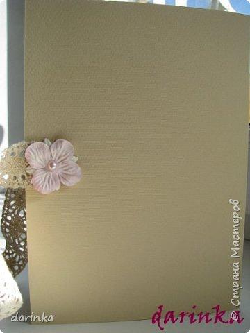Добрый день! Сегодня хочу показать вам свадебную открытку и конверт, которые впервые делала на заказ! Результат меня очень порадовал! фото 6