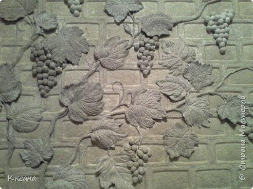 стена на кухне из папье маше фото 1