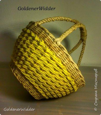 Мастер-класс Плетение Послойное плетение двойными трубочками загибка-розга двойная ручка Бумага газетная фото 1