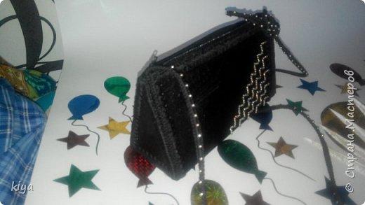 на новогодний корпоратив сделала себе сумочку
