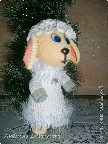 Принимайте в свой хоровод и мою модницу. Делала овечку по МК елены Жуковой https://stranamasterov.ru/node/854608?c=favusers   фото 3