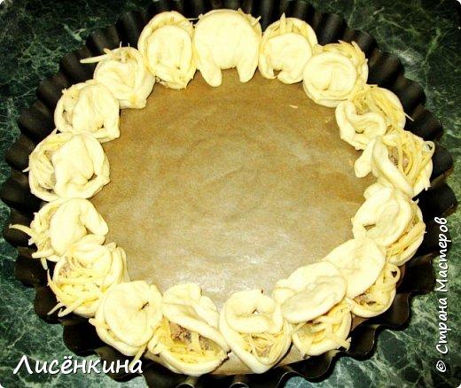 Кулинария Мастер-класс Рождество Рецепт кулинарный  ХРИЗАНТЕМА мясной пирог Тесто для выпечки фото 11