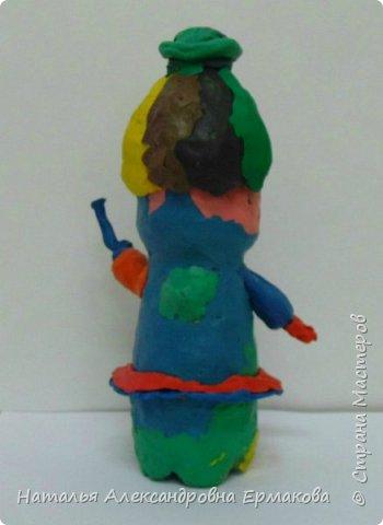 Поделка изделие Рождество Моделирование конструирование Рождественский Ангел своими руками  Бутылки пластиковые Пластилин фото 5