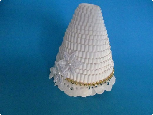 Мастер-класс Поделка изделие Новый год Квиллинг Ах это Ангел белоснежный Картон гофрированный фото 18