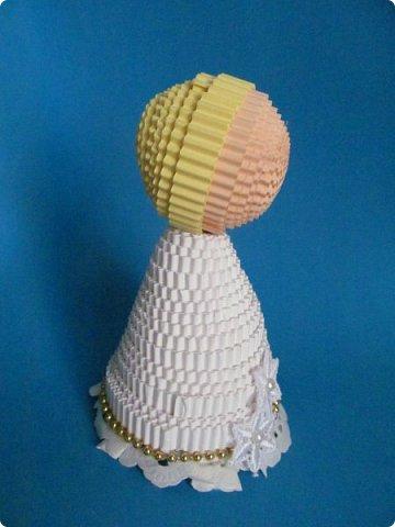 Мастер-класс Поделка изделие Новый год Квиллинг Ах это Ангел белоснежный Картон гофрированный фото 19