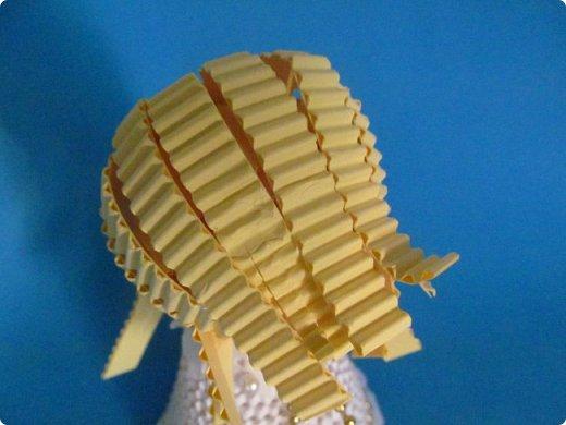 Мастер-класс Поделка изделие Новый год Квиллинг Ах это Ангел белоснежный Картон гофрированный фото 23