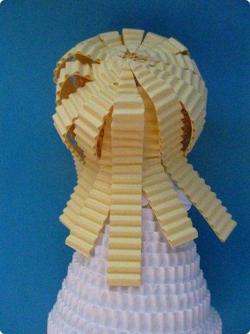 Мастер-класс Поделка изделие Новый год Квиллинг Ах это Ангел белоснежный Картон гофрированный фото 25