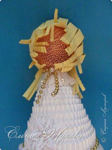 Мастер-класс Поделка изделие Новый год Квиллинг Ах это Ангел белоснежный Картон гофрированный фото 26