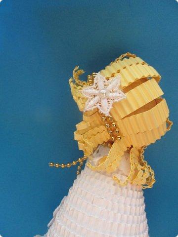 Мастер-класс Поделка изделие Новый год Квиллинг Ах это Ангел белоснежный Картон гофрированный фото 29