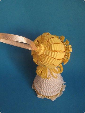Мастер-класс Поделка изделие Новый год Квиллинг Ах это Ангел белоснежный Картон гофрированный фото 31