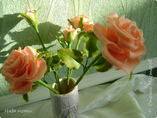 Очень хочу добиться схожести с натуральными цветочками.Девочки дайте свои замечания,что не так ,ведъ самой не все видно. фото 1