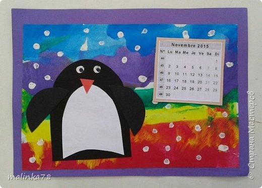 Сделили с детьми вот такой альбом-календарь родителям в подарок на Новый год. Делали долго в течении 4 месяцев, начали в сентябре. Надеюсь наша идея вам понравилась. фото 13