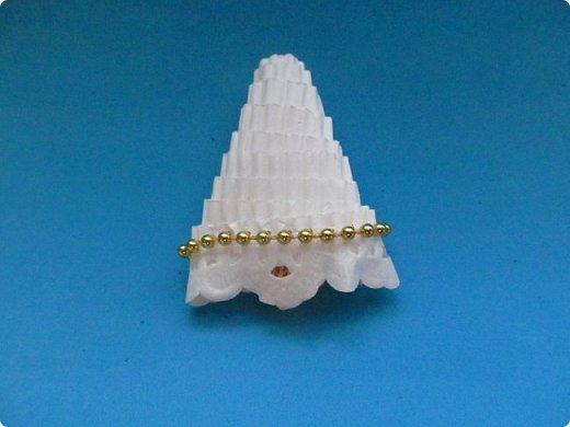 Мастер-класс Поделка изделие Новый год Квиллинг Ах это Ангел белоснежный Картон гофрированный фото 36