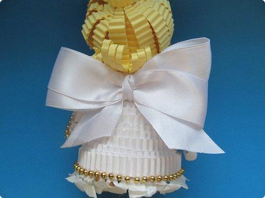 Мастер-класс Поделка изделие Новый год Квиллинг Ах это Ангел белоснежный Картон гофрированный фото 38