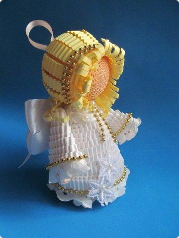 Мастер-класс Поделка изделие Новый год Квиллинг Ах это Ангел белоснежный Картон гофрированный фото 37