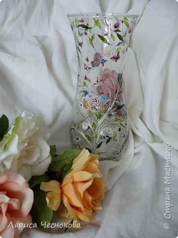 314302_p1350519 Вазы из стеклянных бутылок: декор, роспись и обрезка