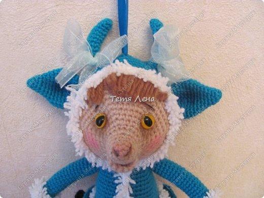 Игрушка Мастер-класс Новый год Вязание крючком Козочка в шубке МК Пряжа фото 36