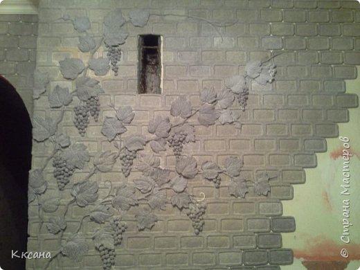стена на кухне из папье маше фото 4
