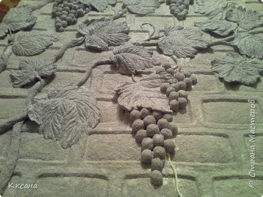 стена на кухне из папье маше фото 5