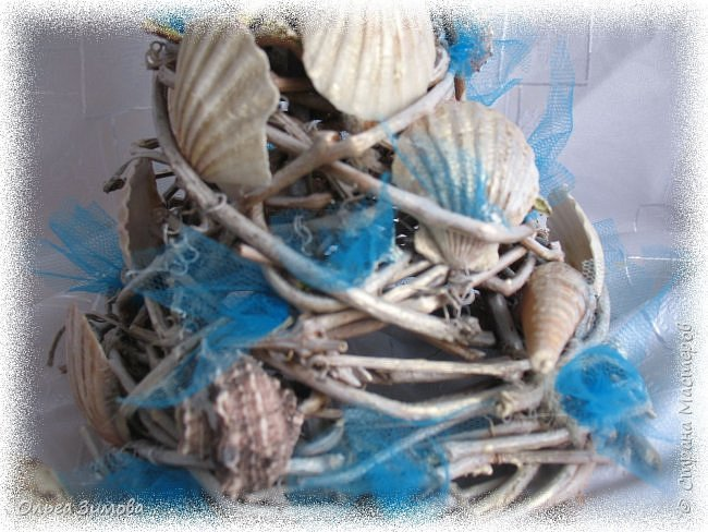 Ещё одна подарочная ёлочка на морскую тематику. фото 7