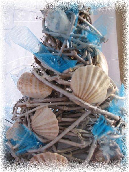 Ещё одна подарочная ёлочка на морскую тематику. фото 8