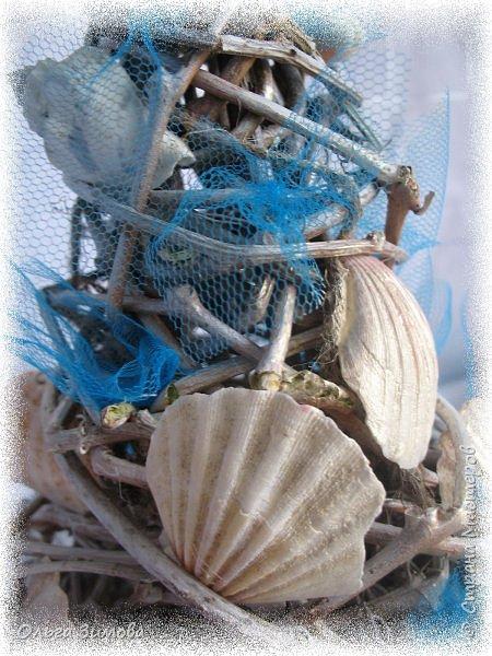 Ещё одна подарочная ёлочка на морскую тематику. фото 12