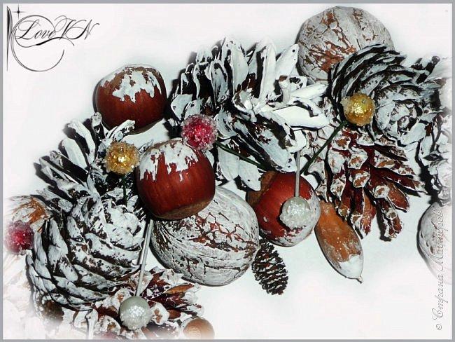 Добрый вечер!!! Осталось совсем немного времени до Нового года!!! Может быть ещё успеете сделать новогодний веночек из природных даров? Предлагаю вашему вниманию мастер-класс (он состоит из двух частей!), по которому я и наваяла маленькое чудо.   Вторая часть МК - https://stranamasterov.ru/node/863131 фото 24