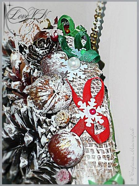Добрый вечер, жители Страны Мастеров! Сегодня продолжим делать новогодний венок, который недавно начали ваять в первой части МК -  https://stranamasterov.ru/node/862744  фото 25