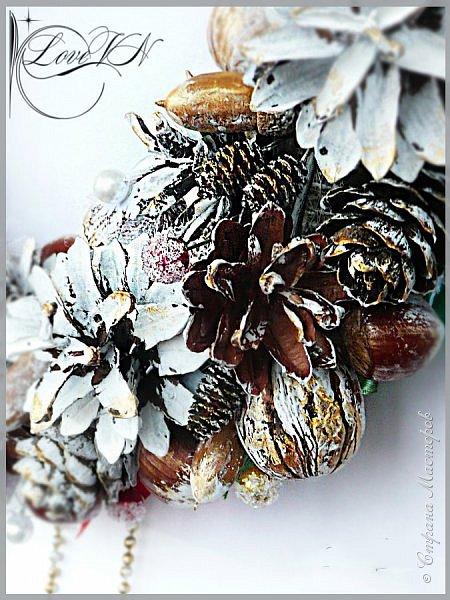 Добрый вечер, жители Страны Мастеров! Сегодня продолжим делать новогодний венок, который недавно начали ваять в первой части МК -  https://stranamasterov.ru/node/862744  фото 26