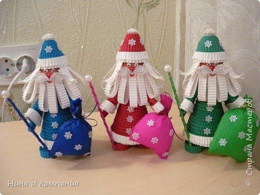 Продолжаю учится делать игрушки из гофрокартона и готовится к Новому году. фото 12