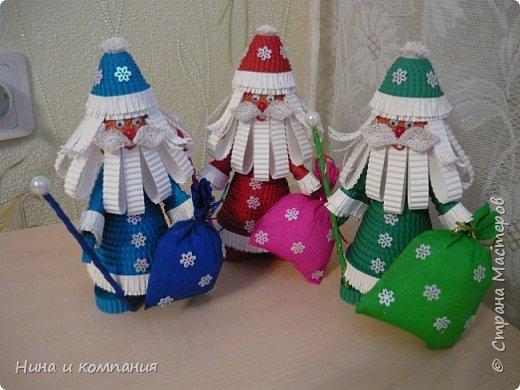 Продолжаю учится делать игрушки из гофрокартона и готовится к Новому году. фото 13
