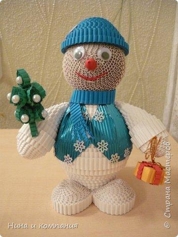 Продолжаю учится делать игрушки из гофрокартона и готовится к Новому году. фото 2