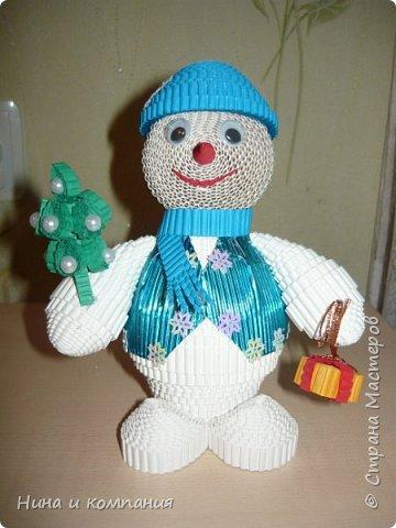 Продолжаю учится делать игрушки из гофрокартона и готовится к Новому году. фото 3