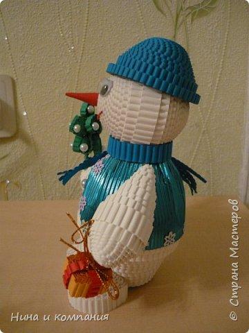 Продолжаю учится делать игрушки из гофрокартона и готовится к Новому году. фото 4