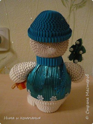 Продолжаю учится делать игрушки из гофрокартона и готовится к Новому году. фото 5