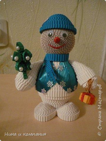 Продолжаю учится делать игрушки из гофрокартона и готовится к Новому году. фото 7