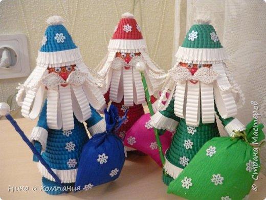 Продолжаю учится делать игрушки из гофрокартона и готовится к Новому году. фото 8