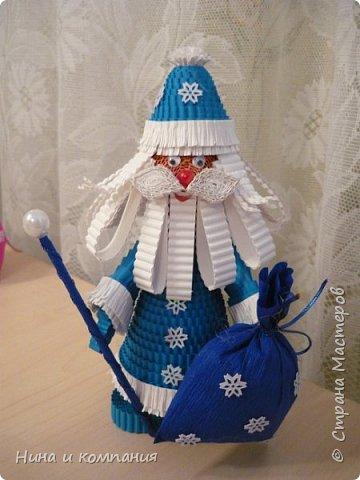 Продолжаю учится делать игрушки из гофрокартона и готовится к Новому году. фото 9