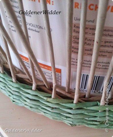 Мастер-класс Поделка изделие Масленица Плетение Чайный поднос из пластиковой крышки Бумага газетная Трубочки бумажные фото 15